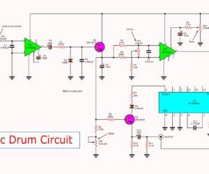 Simple electronic drum circuit using MC14046