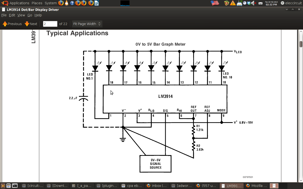 Four LM3914 VU Meter circuits – Electronic projects circuits