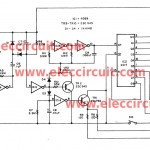 Cheap led christmas light flasher circuit is controlled by audio