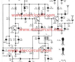 DIY  wireless audio video sender circuit