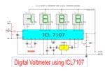Digital voltmeter circuit diagram using ICL7107 / 7106 with PCB
