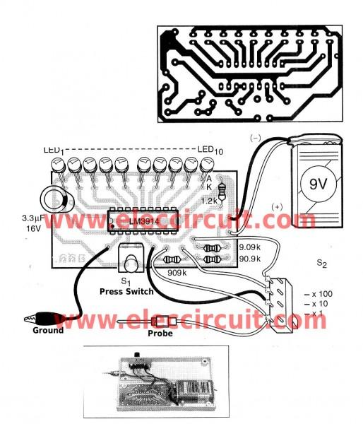 pcb-of-the-led-display-voltmeter-in-probe-model