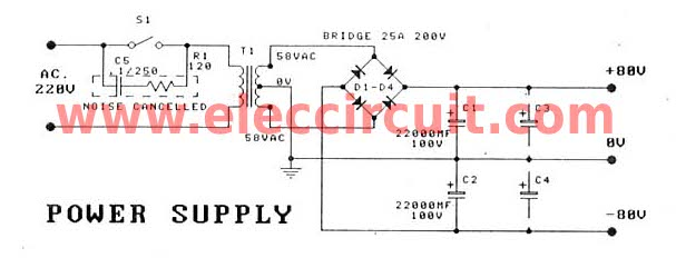 300-1200W MOSFET Amplifier for professionals | Projects Circuits