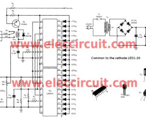 Electronic thermometer circuit with versatile control.