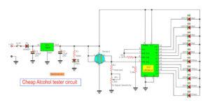 cheap alcohol tester circuit