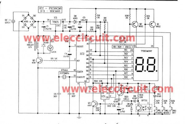 Digital timer controller 0-99 second using PIC16C56