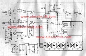Multi function digital frequency meter circuit 0-100MHz