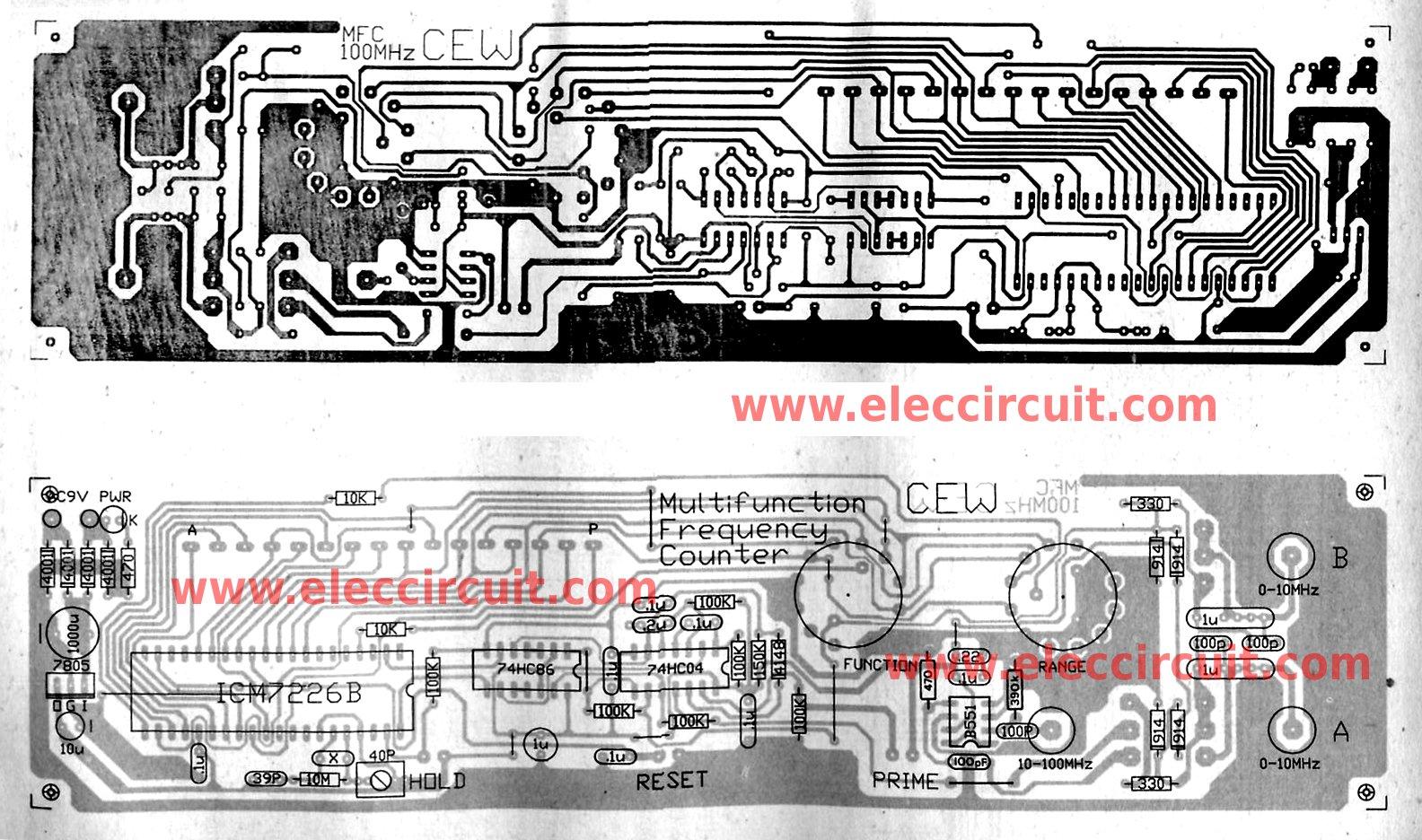 Multi Function Digital Frequency Meter Circuit 0 100mhz