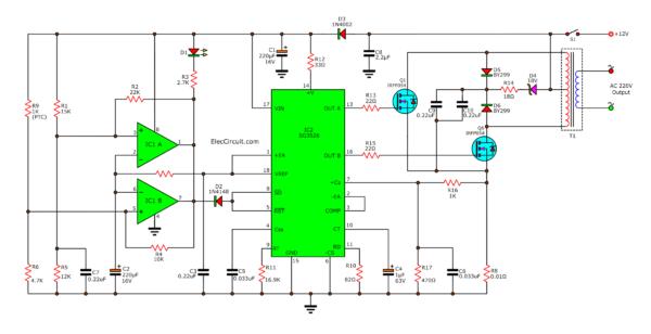200W inverter circuit diagram SG3526