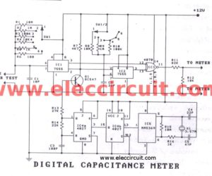 Digital capacitor meter projects easy to build