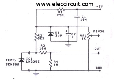 digital-temperature-sensor-circuit-using-lm335z