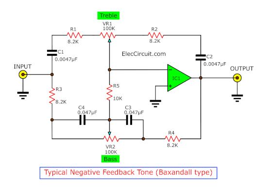 negative feedback pre tone control circuit baxandall type
