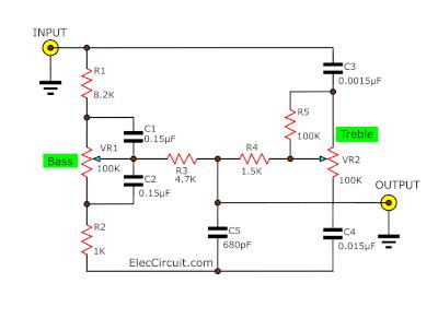 typical passive tone control circuit
