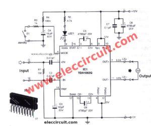 12V Car Audio amplifier circuit 50W-65W