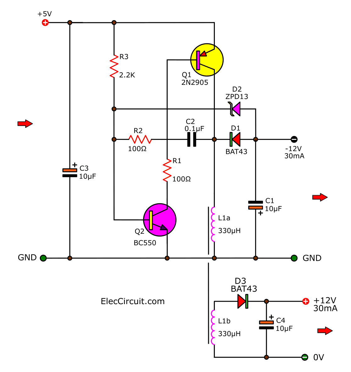 5v to 12v boost converter circuit or higher