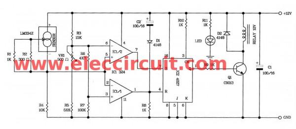 Automatic fan controller circuit diagram