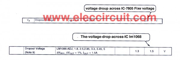 compare-information-the-voltage-across-input-out-of-ic-7805-and-lm1086