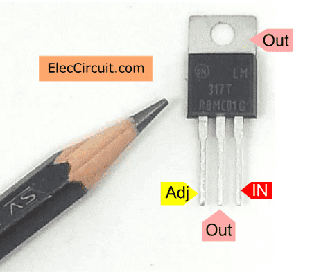 pin to use lm317-to-220