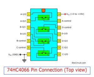 74HC4066 Pinout connection