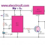 High Power Pulse Generator using LM350T and NE555