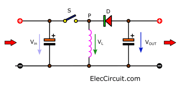 Basic buck boost converter circuit