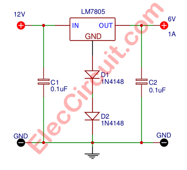 the step down 12 volts to 6 volts dc converter electronic the step down 12 volts to 6 volts