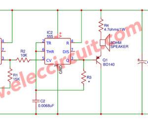 555 Siren sound Generator