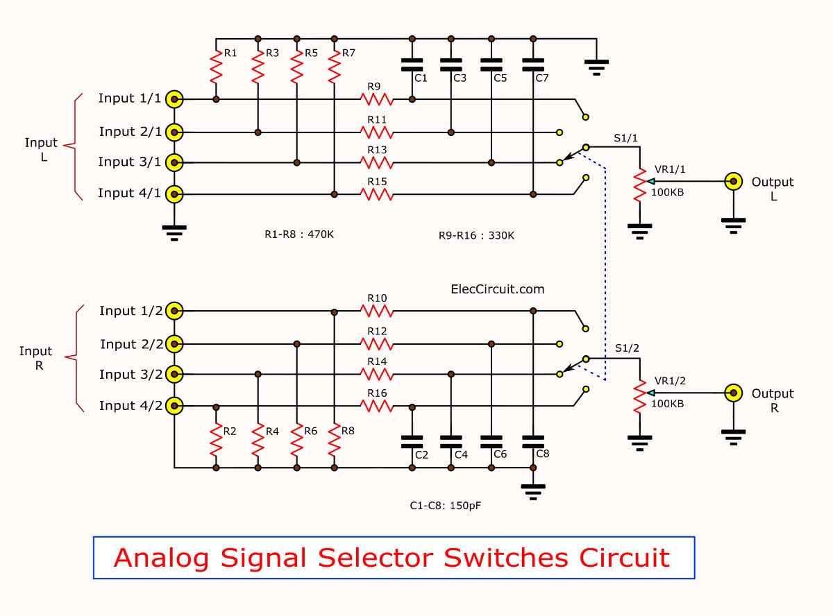 Analog signal selector switches Circuit