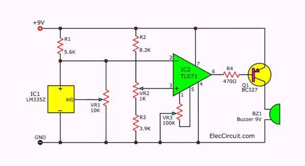 temperature detector circuit