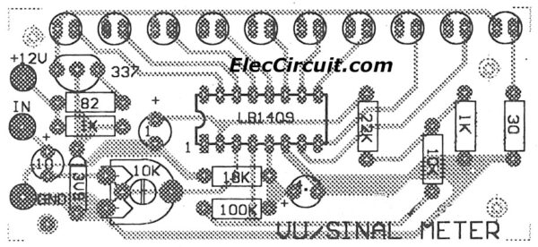 component layout of signal meter