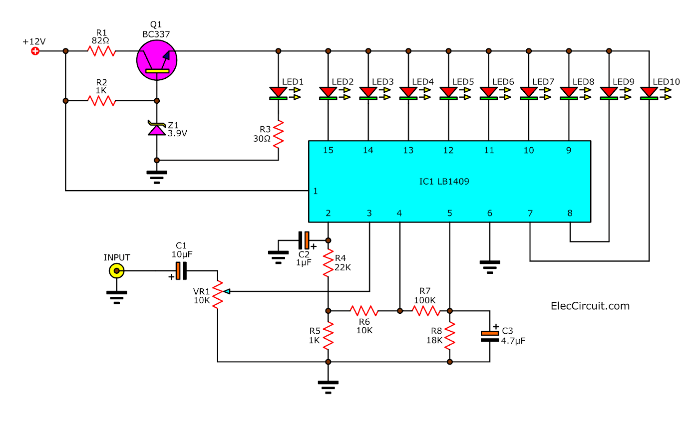 Sound level meter circuit using LB1409