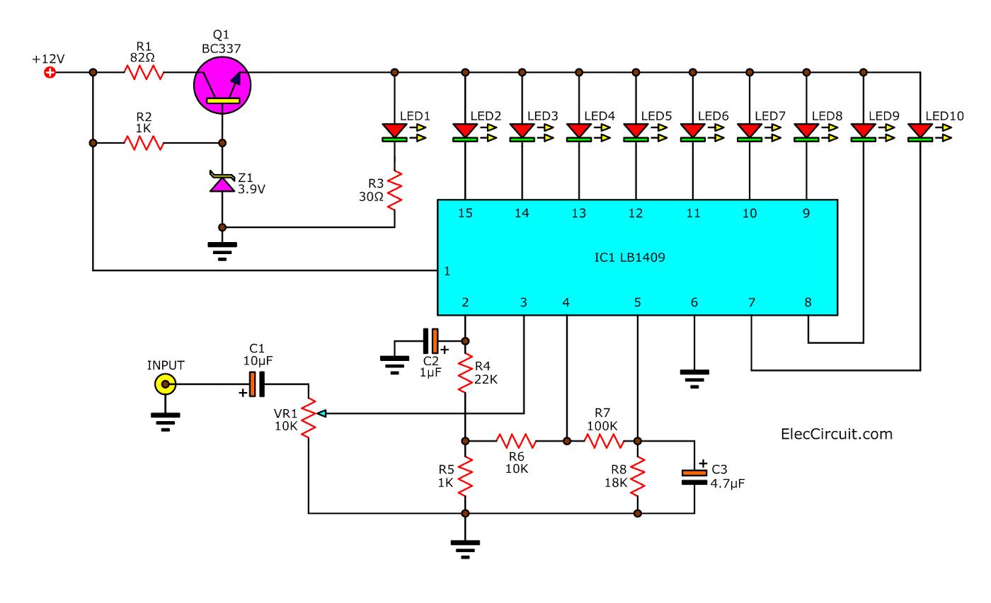 Sound level meter circuit using LB1409