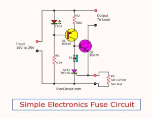 electronic fuse circuit using SCR