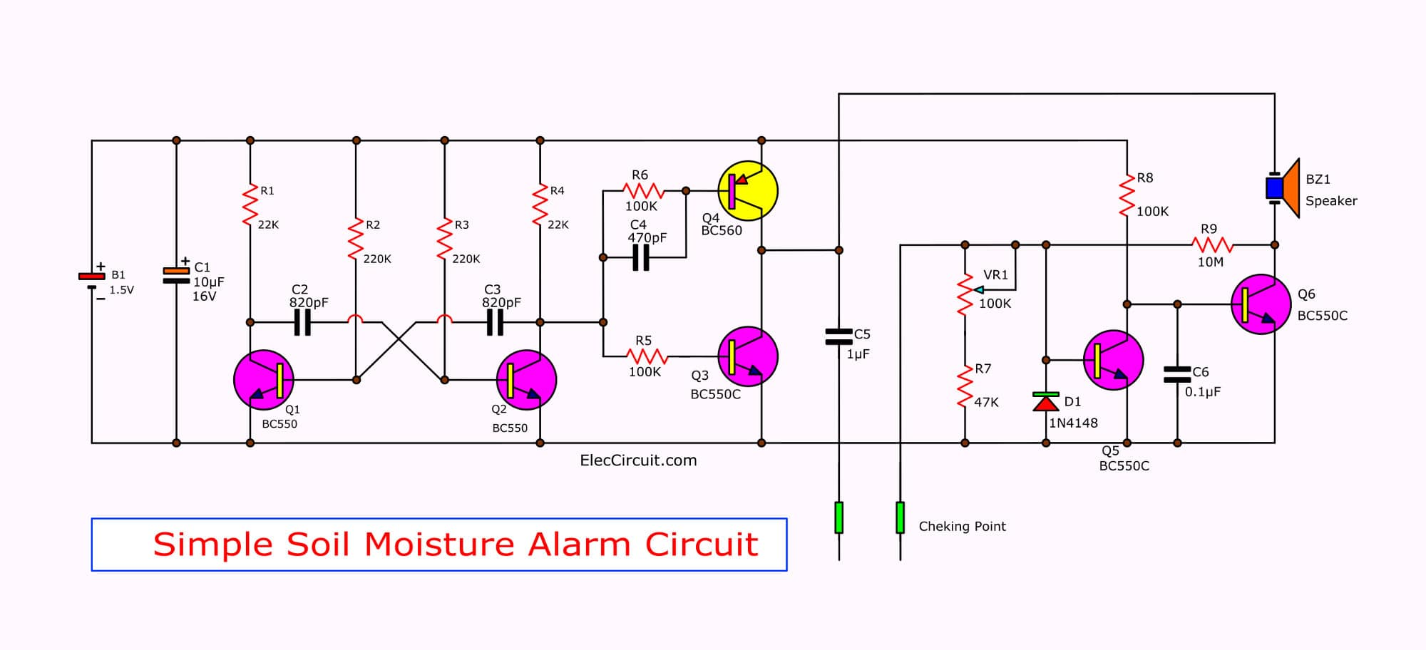 simple soil moisture alarm