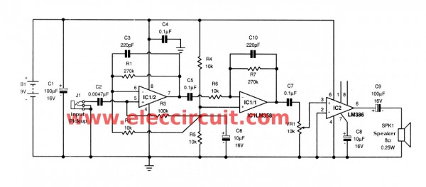telephone-pickup-small-amplifier-circuit