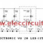 20 LED vu meter schematic
