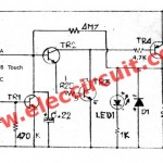 Simple touch switch using transistor