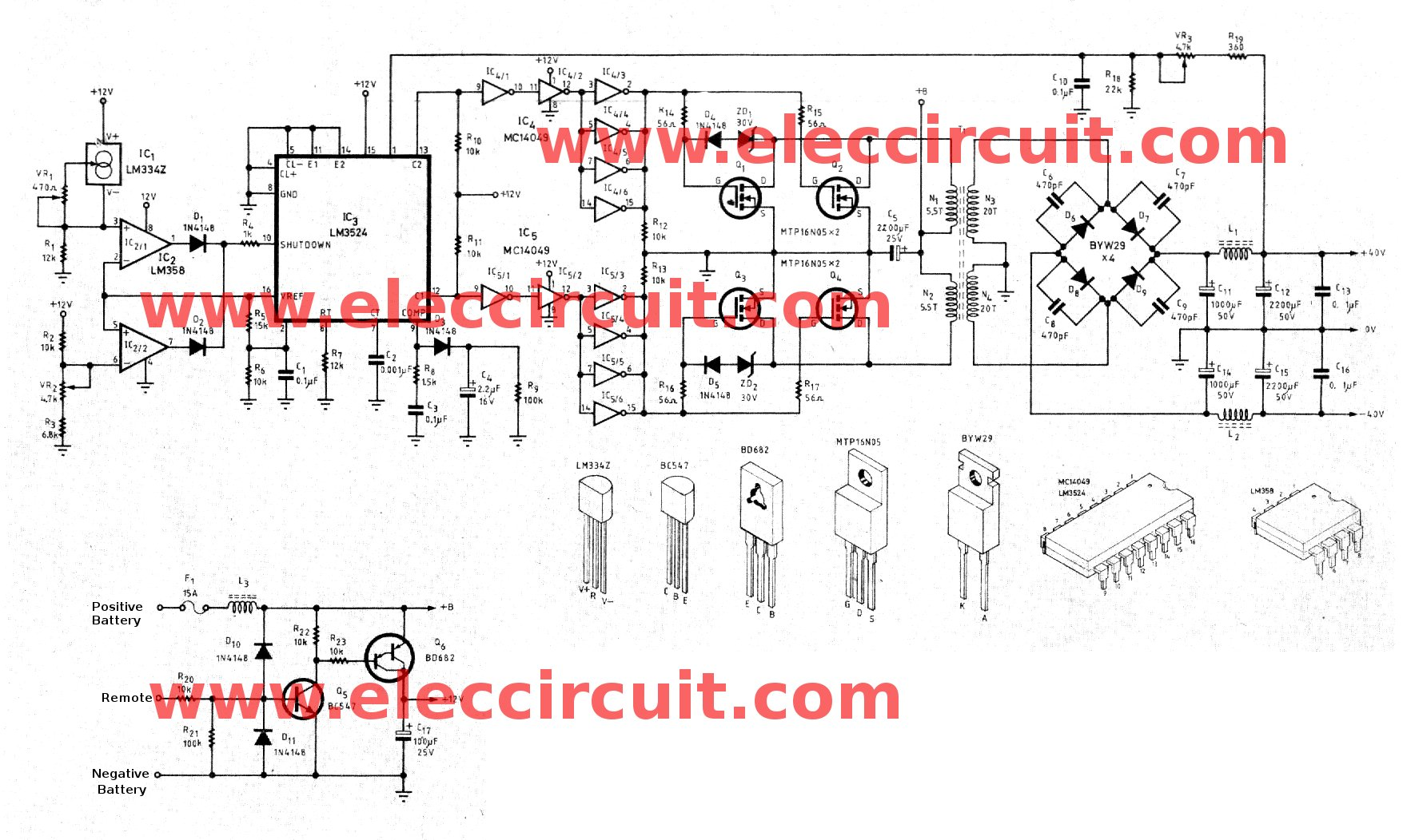 12v dc step up converter old circuits