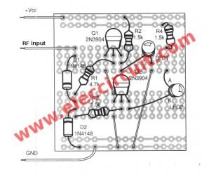 Ham radio transceiver RF indicator circuit