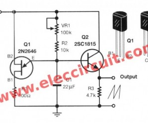 Sawtooth wave generator circuit using UJT