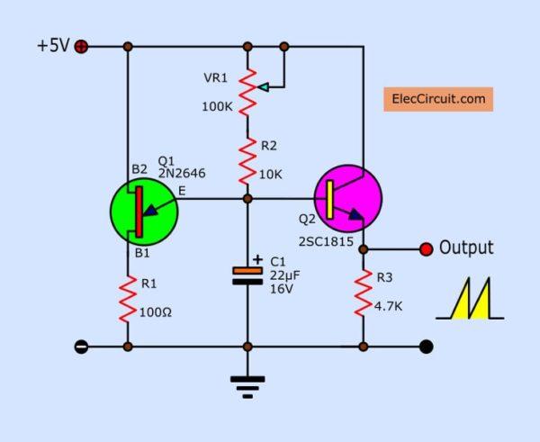 sawtooth-wave-generator-circuit-using-ujt-600x491 Ramp Generator Circuit Diagram on negative ion,