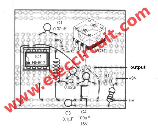 Sine wave generator circuit with double balance mixer IC
