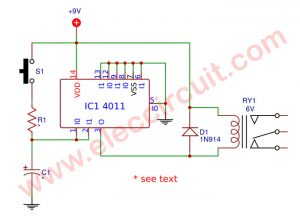 Simple Time Delay Relay for Surge protection using CD4011