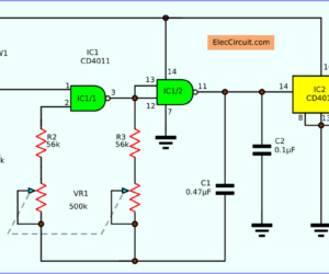 Variable Time base oscillator circuit by cmos IC