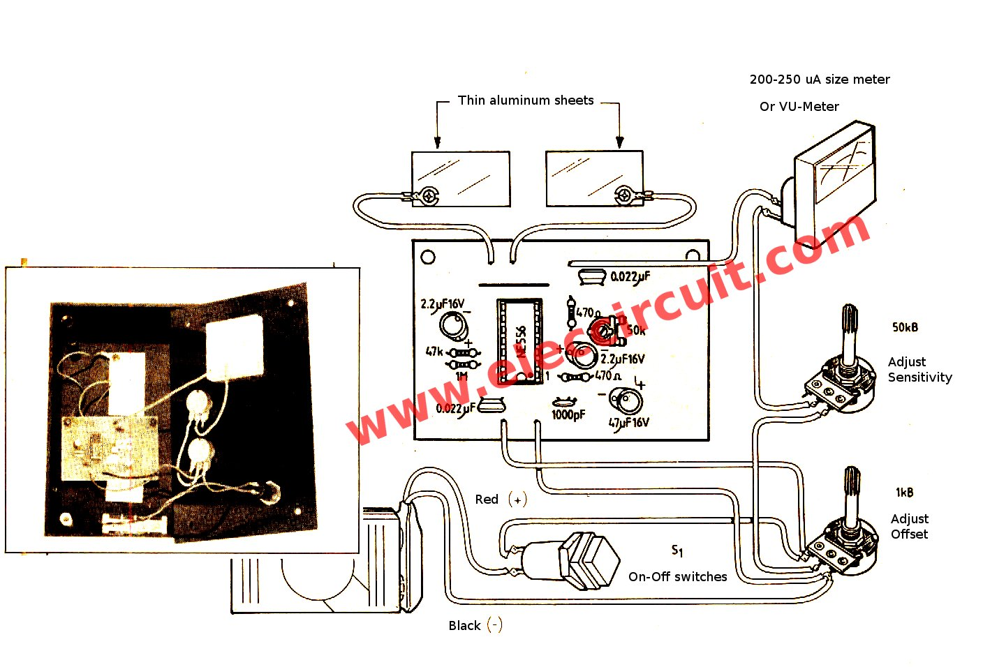 Simple Metal Detector Project Of Circuit Diagram Components Layout For The Pcb