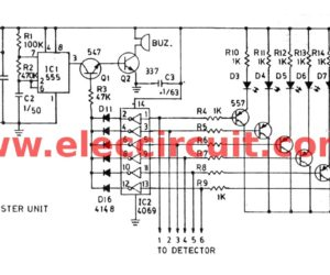 Fire alarm circuit using infrared Smoke detector