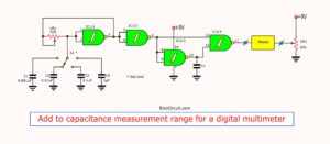 Add to capacitance measurement Range for digital Multimeter