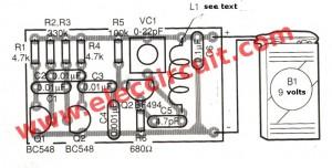 TV test pattern generator circuit with wireless