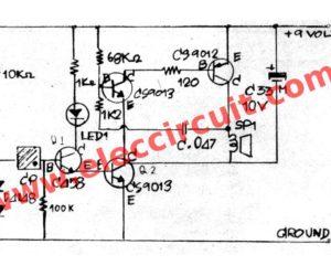 Simple Solar light alarm circuit