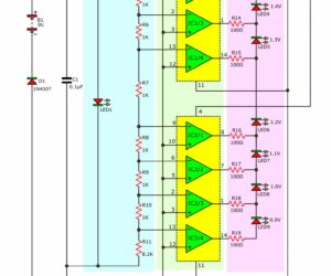 1.5V battery tester circuit using LM324